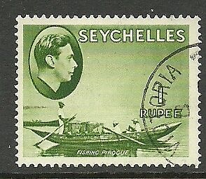 Seychelles - GVI 1r definitive - SG146 - VFU - Cat £90