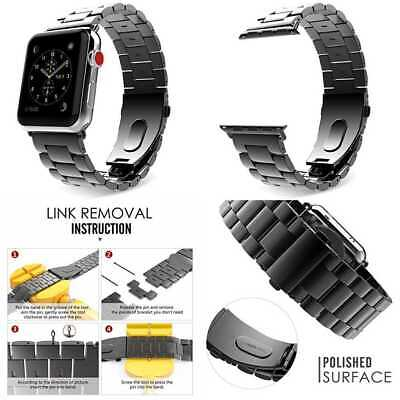 SPACE GREY STEEL LINKS Wristband Strap Band Bracelet For iWatch 42MM APPLE WATCH