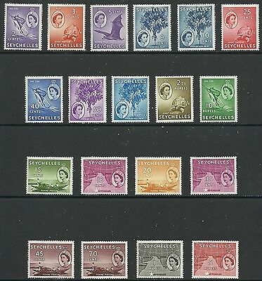Seychelles - QEII first definitive set - SG174/88 - LMM