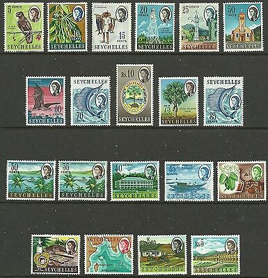 Seychelles - QEII second definitive set - SG196/212