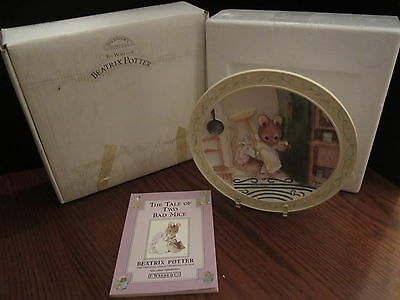 The Tale Of Two Bad Mice Beatrix Potter 3D Plate,  Book & Box