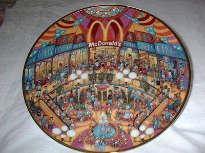 "Collectable Mcdonald's ""golden Showcase"" Plate By Bill Bill, Franklin Mint"