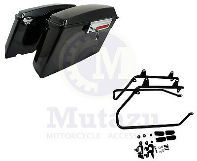 Harley STYLE Saddlebags Saddle bags & Softail Conversion Brackets for Harley H-D