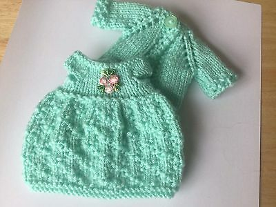 Blythe Doll Outfit clothes Hand Knitted dress and cardigan