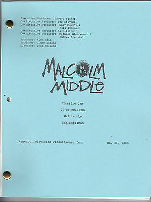 """MALCOLM IN THE MIDDLE show script """"Traffic Jam"""""""