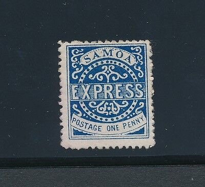 "1879 Samoa #1 ""EXPRESS - ONE PENNY""; UNUSED; CAT VALUE $37.50"