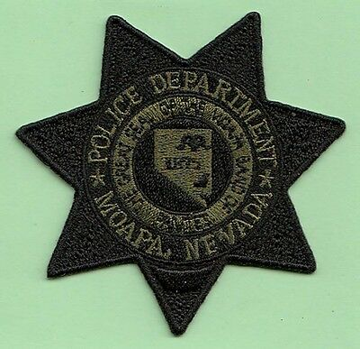 J17 * Subdued Grn Moapa Nevada Paiutes Indian Tribal State Police Swat Patch Fbi