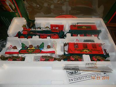 Vtg CHRISTMAS TREE Train Set Winter Belle Express Animated PARTS NO TRACK