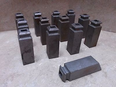 "Lot Of 13 Cast Iron Finial Fence Topper 4"" Tall & Fits 1"" Square Tubing  ~New~"