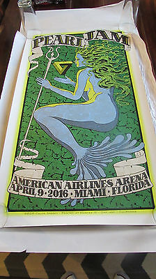 Pearl Jam Miami Poster Chuck Sperry