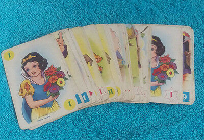 Walt Disney Snow White And The Seven Dwarfs Playing Cards - Vintage - 1937