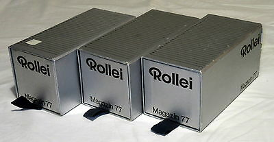 3 x Rollei Magazin 77 Medium Format Slide Tray Magazine 6x6 Pomro 974 030
