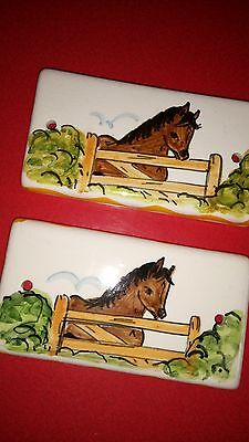toni raymond RARE door plaque x 2
