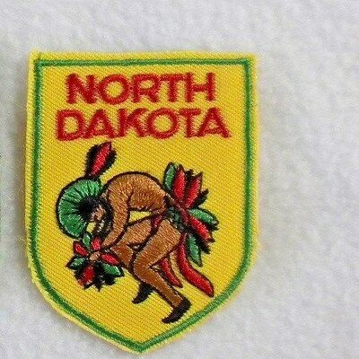 North Dakota Tribal Indian State Souvenir Iron on Sew on Patch Applique