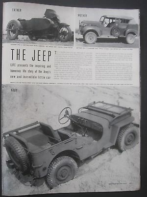 The Jeep, Life Magazine Illustrated 7 Page Article, original WWII Vintage