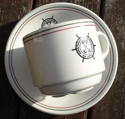 Shipping Line China. United Arab Shipping Kuwait. Cup & Saucer.