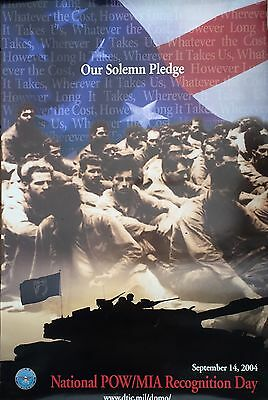 National Pow Mia Recognition Day 2004 Poster Prisoners Of War Missing In Action