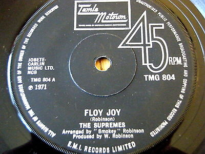 "The Supremes - Floy Joy  7"" Vinyl"