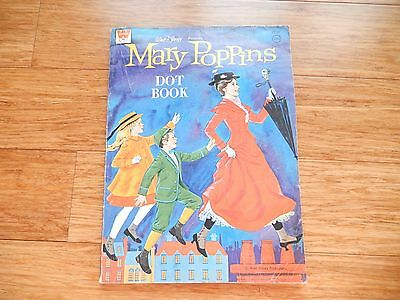 Vintage 1963 Walt Disney MARY POPPINS WHITMAN Dot & Coloring Book