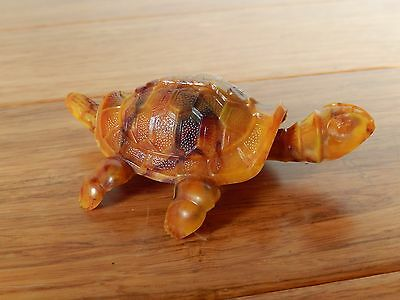 Vintage 1950's Celluloid Reider & Co Nodder Butterscotch Turtle Germany