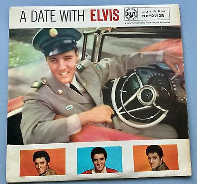 Lp A Date With Elvis Rca 1960 Matrix 1B 1B Vinyl Ex Rd 27128 Vinyl Ex