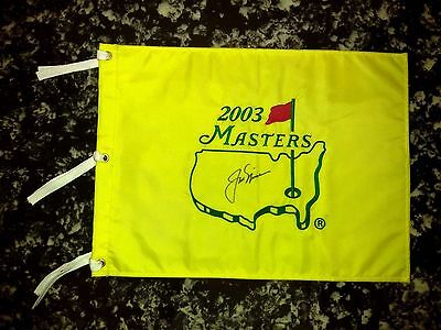 Jack Nicklaus Autographed Signed 2003 Masters Flag Augusta W/coa