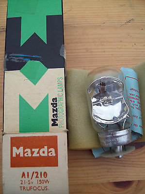 Mazda/atlas A1/210 21.5V 150W Projection Lamp/bulb. New (Old Stock)