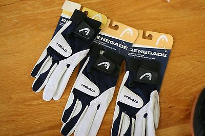 HEAD RACQUETBALL GLOVE  RENEGADE,THREE GLOVES , RIGHT Hand Size S SMALL