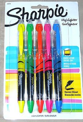 Sharpie 24575 Accent Liquid PenStyle Highlighter Assorted Colors 5 Pack