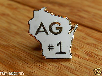Vintage AG Agriculture Wisconsin #1 Pin Pinback