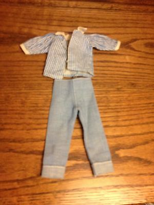 50's Vogue Jill jeans and blue checked blouse lot of 2 labeled