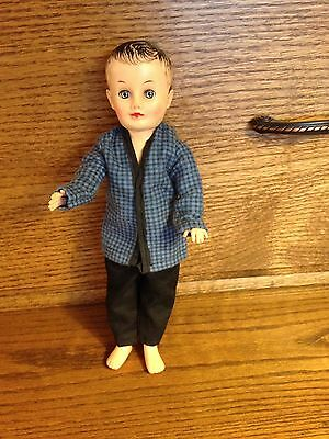 """50's Vogue Jeff size flannel pajama top and cotton pants for 10"""" doll Ginny bro"""