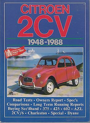 CITROEN 2CV ( 375 , 425 602cc ) 2CV/6 & DYANE 1948 - 1988 PERIOD ROAD TESTS BOOK