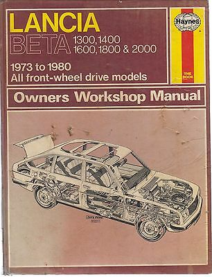 Lancia Beta Saloon Coupe Hpe Spider (Inc Monte Carlo Engine) 1973- Repair Manual