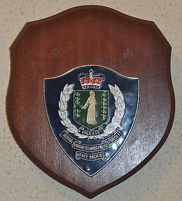 Royal Virgin Islands Police Force plaque shield crest badge Constabulary