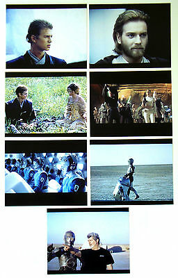 STAR WARS ATTACK OF THE CLONES George Lucas LOT of 7 COLOR PHOTOS