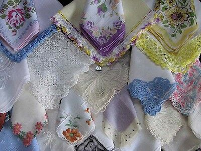 Awesome Lot Of 25 Assorted Vintage Hankies