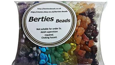 Mixed Mix Genuine Gemstone Chip Beads Chakra Healing Reiki Rainbow Craft Loose