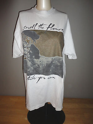 1991 U2 ONE - SMELL THE FLOWERS WHILE YOU CAN White Shirt - Adult Size Large L