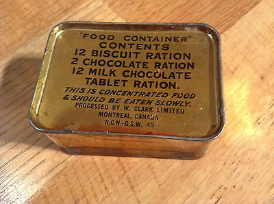 World War Two Royal Canadian Navy Ration Tin 1945 Unopened