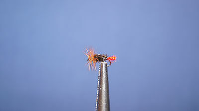 12QTY RED TAG Fly Fishing Flies size16