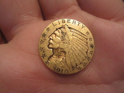 1910 $5 Gold Indian Half Eagle Nice Coin