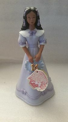 Enesco Growing Up Girl Figurine Age 16 African American Musical W/original Tag