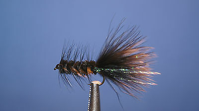 12QTY WOOLY BUGGER BLACK FLY fishing flies size10