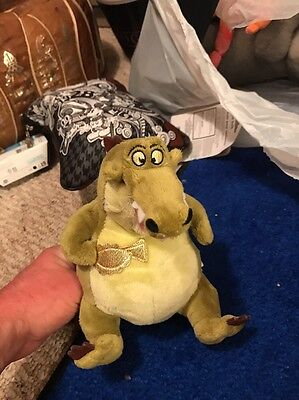 """Louis The Alligator Plush 7"""", Disney, The Princess And The Frog, Jazz"""