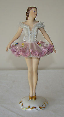 dresden ballerina figurine circa 1930s makers mark on base some damage
