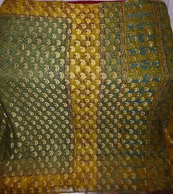 Vintage Indian Sareee Woven Pure Silk Sari Saree