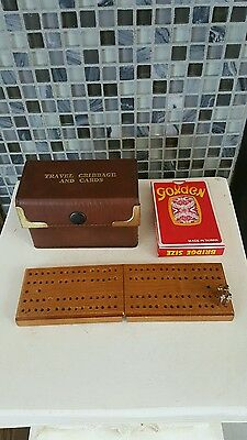 Travel Cribbage And Cards Set
