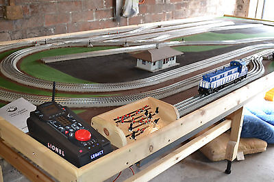 0 gauge layout Lionel Legacy powered with  electric points 12 x 8 for UK Use