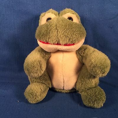 """BELIEVE THE FROG by RUSS - Green Plush Toy - 5.5"""" Tall"""